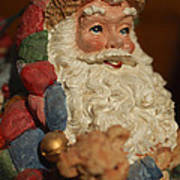 Santa Claus - Antique Ornament - 09 Print by Jill Reger