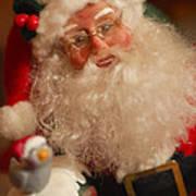 Santa Claus - Antique Ornament - 11 Print by Jill Reger