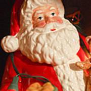 Santa Claus - Antique Ornament - 13 Print by Jill Reger