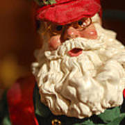 Santa Claus - Antique Ornament - 16 Print by Jill Reger