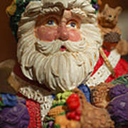 Santa Claus - Antique Ornament - 20 Print by Jill Reger