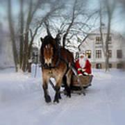 Santa Claus Print by Conny Sjostrom