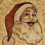 Santa Claus Joyful Face Print by Georgeta  Blanaru