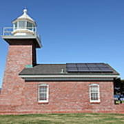 Santa Cruz Lighthouse Surfing Museum California 5d23942 Print by Wingsdomain Art and Photography