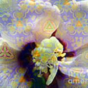 Satin Flower Fractal Kaleidoscope Print by Renee Trenholm