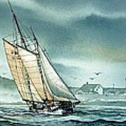 Schooner Voyager Print by James Williamson