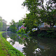 Schuylkill Canal Mont Clare Print by Bill Cannon