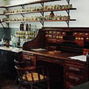 Scientist - Office In Chemistry Lab Print by Susan Savad
