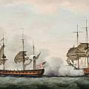 Sea Battle Print by Francis Holman