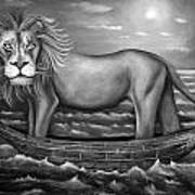 Sea Lion In Bw Print by Leah Saulnier The Painting Maniac