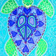 Sea Turtle Swim Print by Nick Gustafson
