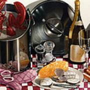 Seafood Serenade 1996  Skewed Perspective Series 1991 - 2000 Print by Larry Preston