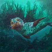 Seal Print by Kathleen Kelly Thompson