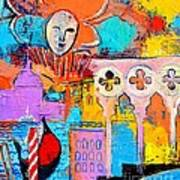 Search Of Lost Time In Venice Print by Ana Maria Edulescu