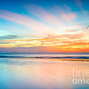 Seascape Sunset Print by Adrian Evans