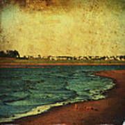 Seaside Beach Photograph Coastal Decor Print by Laura  Carter