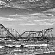 Seaside Heights - Jet Star Roller Coaster Print by Niday Picture Library