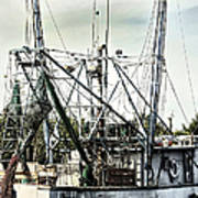 Seasoned Fishing Boat Print by Debra Forand