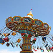 Seaswings At Santa Cruz Beach Boardwalk California 5d23905 Print by Wingsdomain Art and Photography