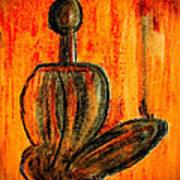 Seated Man Print by Nirdesha Munasinghe