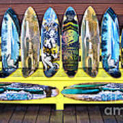 Sector Nine Skateboards Print by Cheryl Young