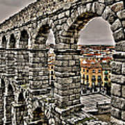 Segovia Aqueduct - Spain Print by Juergen Weiss