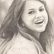 Selena Gomez Print by Kendra Tharaldsen-Franklin