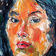 Self Portrait 2013 -3 Print by Becky Kim