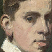 Self Portrait Print by Francis Campbell Boileau Cadell