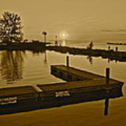Sepia Sunset Print by Frozen in Time Fine Art Photography