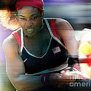 Serena Williams Print by Marvin Blaine