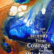 Serenity Prayer 4 - By Sharon Cummings Print by Sharon Cummings