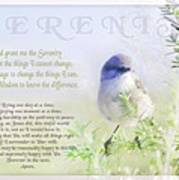 Serenity Prayer Print by Holly Kempe