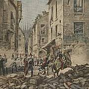 Serious Troubles In Italy Riots Print by French School
