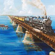 Seven Mile Bridge Print by Christopher Jenkins