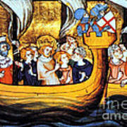 Seventh Crusade 13th Century Print by Photo Researchers