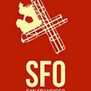 Sfo San Francisco Airport Poster 2 Print by Naxart Studio