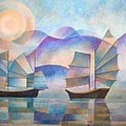 Shades Of Tranquility Print by Tracey Harrington-Simpson