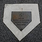 Shea Stadium Home Plate Print by Rob Hans