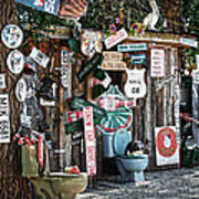 Shed Toilet Bowls And Plaques In Seligman Print by RicardMN Photography