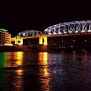 Shelby Street Bridge At Night Print by Dan Sproul