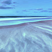 Shifting Sands On Frisco Beach Outer Banks II Print by Dan Carmichael