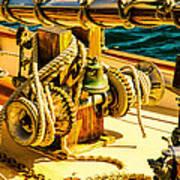 Ships Bell Sailboat Print by Bob Orsillo