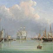 Ships Off Ryde Print by Arthur Wellington Fowles