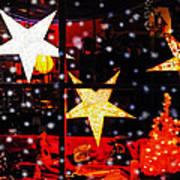 Shop Window On Christmas Eve Print by Terril Heilman