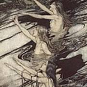 Siegfried Siegfried Our Warning Is True Flee Oh Flee From The Curse Print by Arthur Rackham