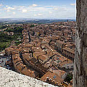 Siena From Above Print by Al Hurley