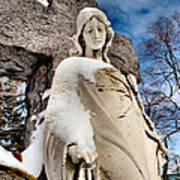 Silent Winter Angel Print by Gothicolors Donna Snyder