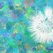 Silverpuff Dandelion Wish Print by Nikki Marie Smith