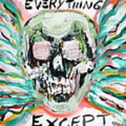 Skull Quoting Oscar Wilde.7 Print by Fabrizio Cassetta